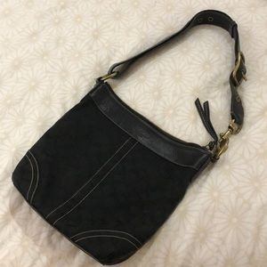 Coach bag with sturdy hardware